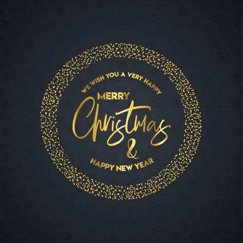Happiness at christmas is remembering the people who mean so much all year. Merry christmas and happy new year lettering | Free Vector