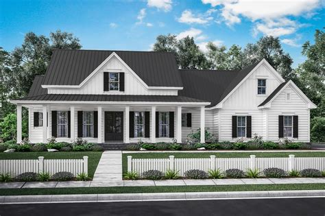 farmhouse style house plan  beds  baths  sqft plan   dreamhomesourcecom