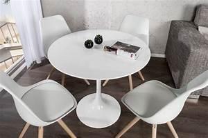 Tisch Rund 90 Cm : design tisch rund weiss ~ Indierocktalk.com Haus und Dekorationen