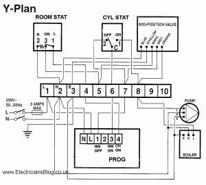 wiring of y plan biflow central heating systems With wiring new thermostat for heat pump and boiler hvac diy chatroom