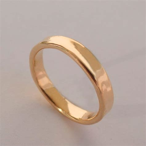 simple gold wedding band 14k gold ring unisex