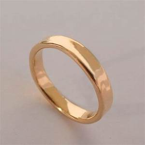 simple gold wedding band 14k rose gold ring unisex With simple wedding rings rose gold