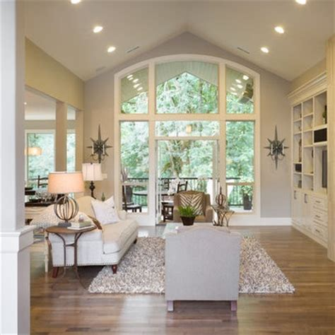 recessed lights vaulted ceiling design