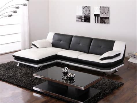 canape d 39 angle noir et blanc pas cher