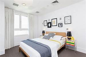 Bold black and white bedrooms with bright pops of color for Black and white with a pops of color bedroom ideas