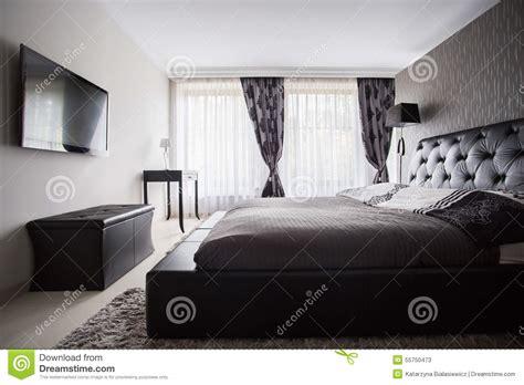 chambre a coucher couleur chambre à coucher de luxe dans la couleur grise photo