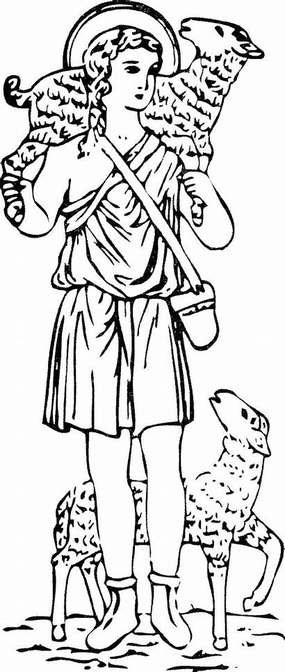 Shepherd Catechesis Catholic Crafts Jesus Line Montessori