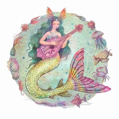 Mermaid Behance Stankovic Vlad Cartoon Drawing Allegra