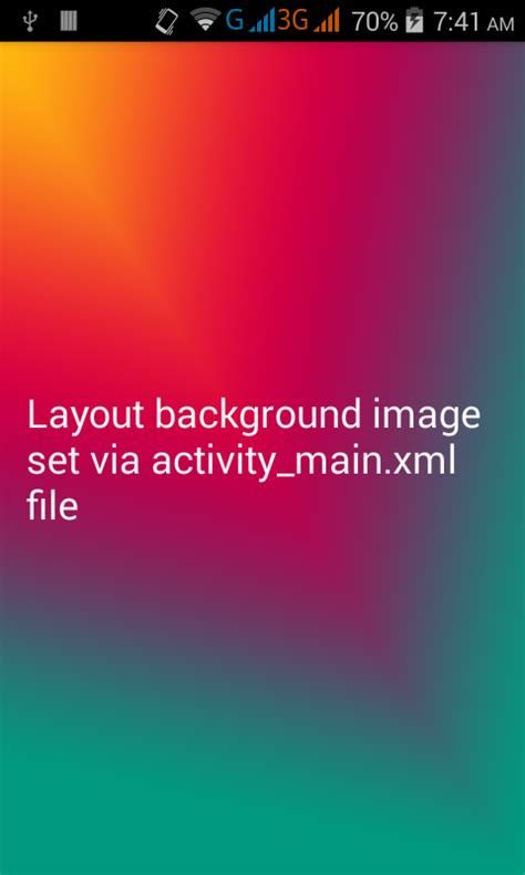 Set Background Image In Whole Layout Android Xml Android