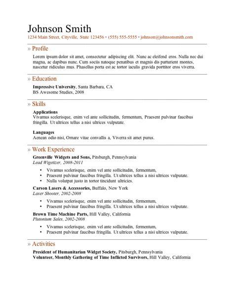 resume template free microsoft my perfect resume templates