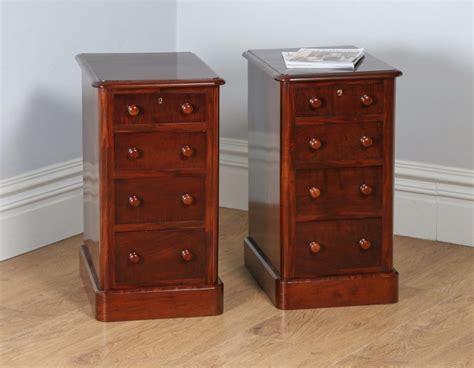 mahogany bedside cabinets pair of mahogany bedside chests pot 3942