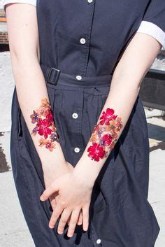 vintage flowers floral tattoo pack  temporary tattoos