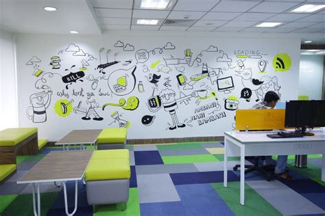 freecharge office bangalore wall mural office wall