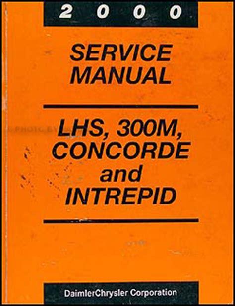 free car repair manuals 2000 chrysler lhs electronic throttle control 2000 concorde intrepid lhs 300m repair shop manual original