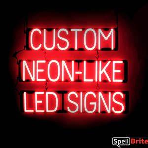 Barber Shop Signs with Neon look & LED performance