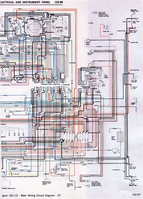 Opel Corsa Wiring Diagram Free by Opel Gt Wiring Diagram Of Electrical And Instrument Panel
