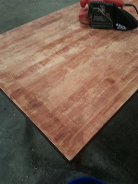 Refinishing A Butcherblock Table Atc