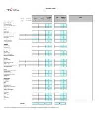 Wedding Budget Spreadsheet Template Excel