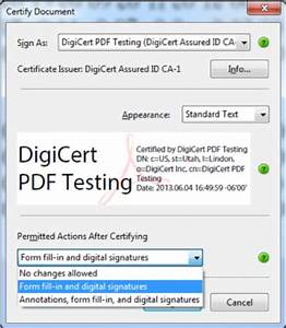 how to sign an adobe pdf document digicertcom With verisign document signing