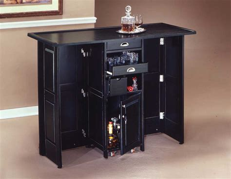 Folding Home Bar by Home Styles Swing Open Folding Bar Black 88 5695 99 At