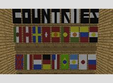 Countries Flags Banner test Minecraft Project