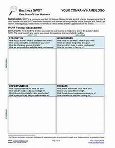 this business swot analysis worksheet provides top notch With swot analysis worksheet template