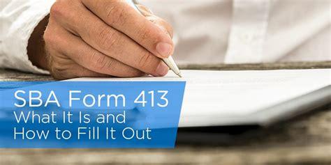 sba gov forms sba personal financial statement exle reportz767 web