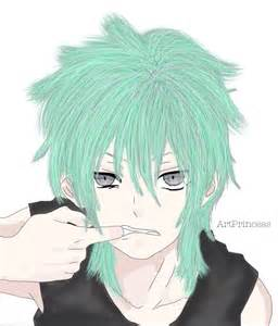 Anime Boy Green Hair