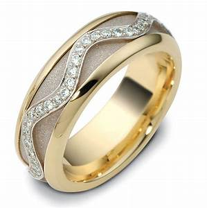 47769ne diamond two tone spinning wedding ring With spinning wedding ring