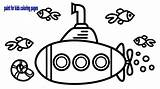 Submarine Underwater Drawing Coloring Clipartmag sketch template