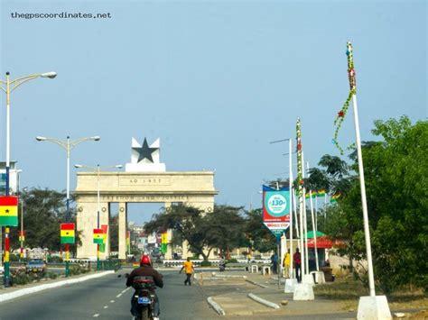 latitude and longitude GPS coordinates of Accra (Ghana ...