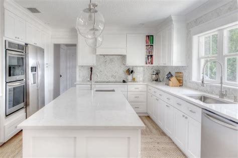 white kitchen cabinets white countertops 10 white countertops you can make yourself if you really 1809