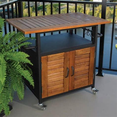 Rolling Outdoor Cabinet For Table Top Grills Traditional