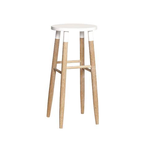tabouret de bar en bois design scandinave tiago blanc