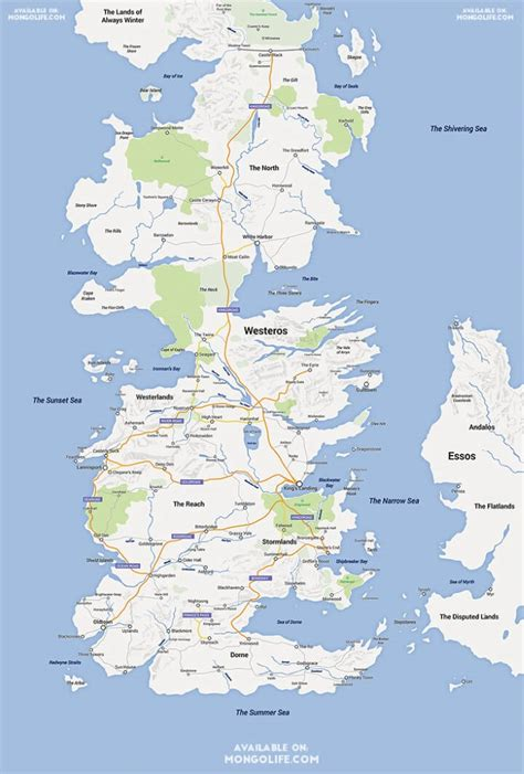 google map style game  thrones westeros essos