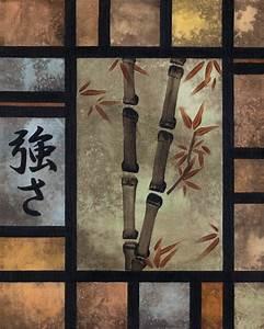 Art wall decor japanese bamboo art wall photos japanese for Bamboo wall art