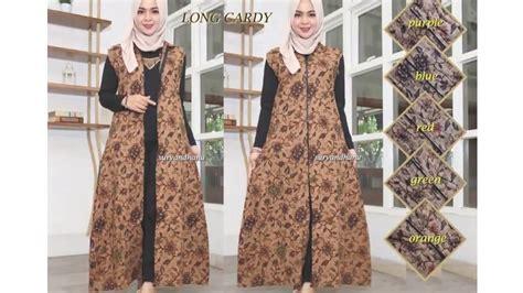 model longdres hijab kekinian hijab batik cardy modern jual   youtube