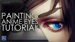 How to paint anime eyes - digital painting tutorial - YouTube