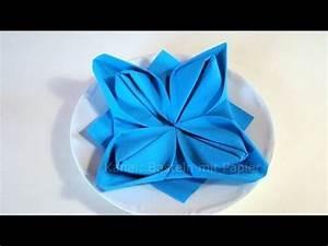 Youtube Servietten Falten : servietten falten anleitung lotusbl te youtube ~ Frokenaadalensverden.com Haus und Dekorationen