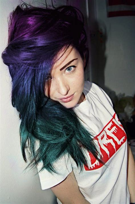 Purple And Blue And Green Hair Hair Inspiration Pinterest