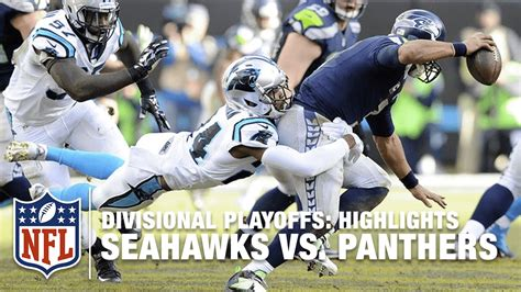 seahawks  panthers divisional playoff highlights