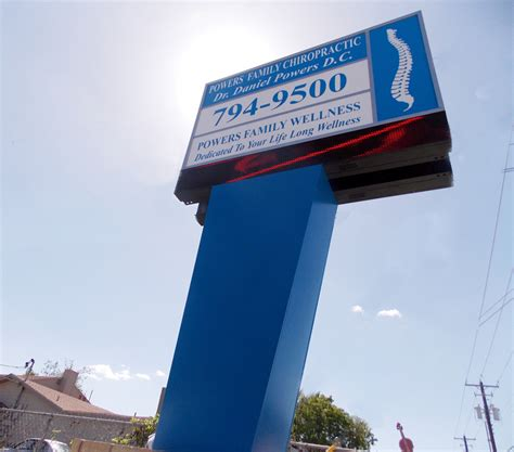 internally illuminated pole sign w led display signs austin sign company