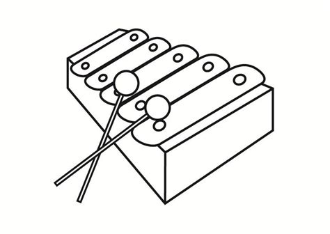 Coloring Xylophone coloriage xylophone img 23334 images