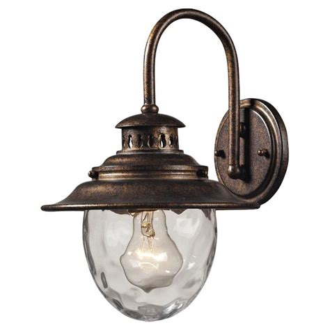 bronze wall sconce outdoor living