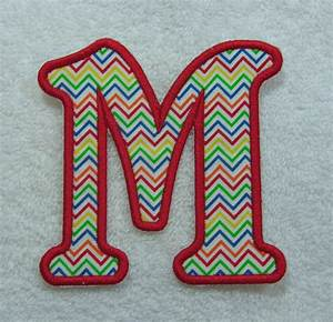 4 inch emma monogram letter fabric embroidered iron on With 4 inch embroidered letters