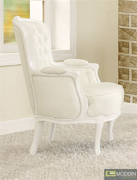 athena white button tufted style accent