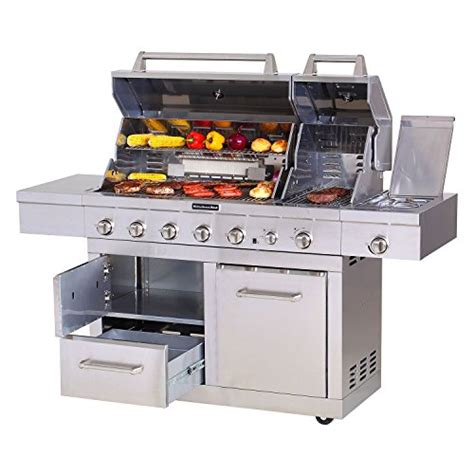 Kitchenaid 36 Grill Rotisserie Kit by Kitchenaid 44 Quot Dual Lid Outdoor Gas Grill With Rotisserie