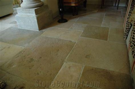 Antique French Limestone Flooring, Buxy Goulot Limestone