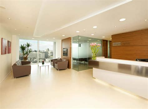 Reception Lighting by Suspended Ceilings Office Interiors London Uk