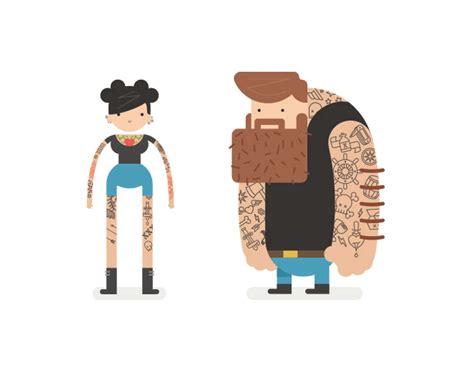 showcase  stylish vector character design illustrations